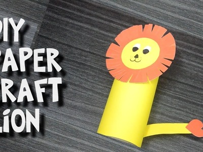 Diy - How to Make Easy Paper Craft Lion for Kids - Tricky Bee