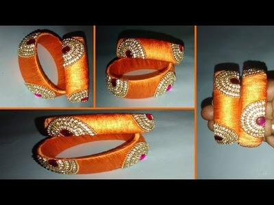 DIY  | HOW TO MAKE SILK THREAD BANGLE DESIGN | BEGINNER TUTORIAL TAMIL - PRABHA BEAUTY TV