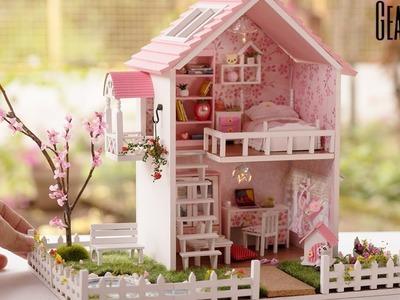 DIY Miniature Cherry Blossoms Dollhouse - Spring Romance