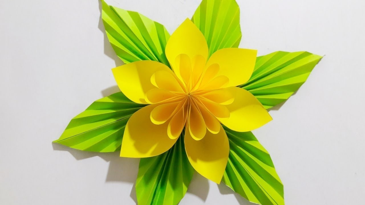 DIY Origami Paper Flower Tutorial | How To Make Origami Paper Flower | Very Easy (2018)