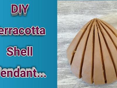 DIY Terracotta Shell Pendant easily(Embossed Type)