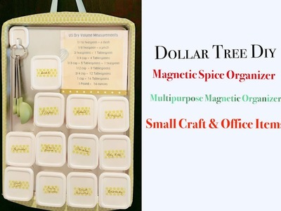 Dollar Tree DIY Multipurpose Magnetic Organizer for Spices, Herbs, Small Craft, and Office Items