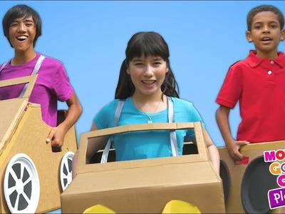 Driving in My Car | DIY Car Craft Fun | Mother Goose Club Playhouse Kids Video