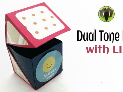 Dual tone Surprise Gift Box with Lid - DIY Tutorial - 894