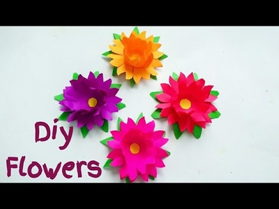 Easy paper flowers. How to make paper flowers.Paper craft by KovaiCraft