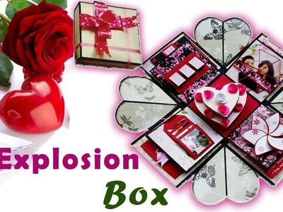 EXPLOSION BOX WITH HEART SHAPED BIRTHDAY CAKE | DIY HEART EXPLOSION BOX | BIRTHDAY GIFT | HEART BOX