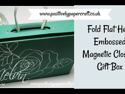 Fold Flat Heat Embossed Magnetic Closure Gift Box