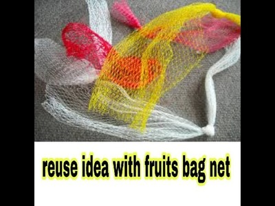 Hair accessories Reuse Ideas with Net Fruit bags | Best Out Of Waste