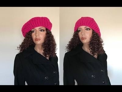 How to Crochet a Beret Hat Pattern #682│by ThePatternFamily