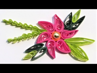 How to make flower and leaf from color paper   paper craft   Room decor