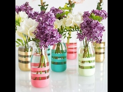 How to make flower vase from  bottles | DIY Tutorial