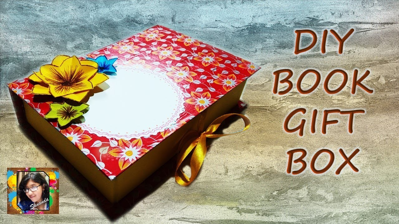 How To Make Gift Box For Birthdaygift Boxbook BoxDiytutorialideas Making With Papermaking