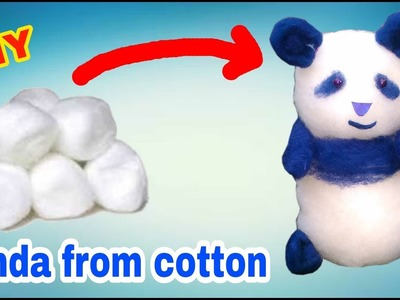 How to make panda with cotton at home in hindi | Gk craft