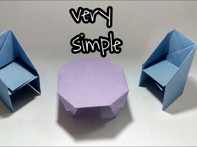 How to make paper chair;easy craft work|origami|