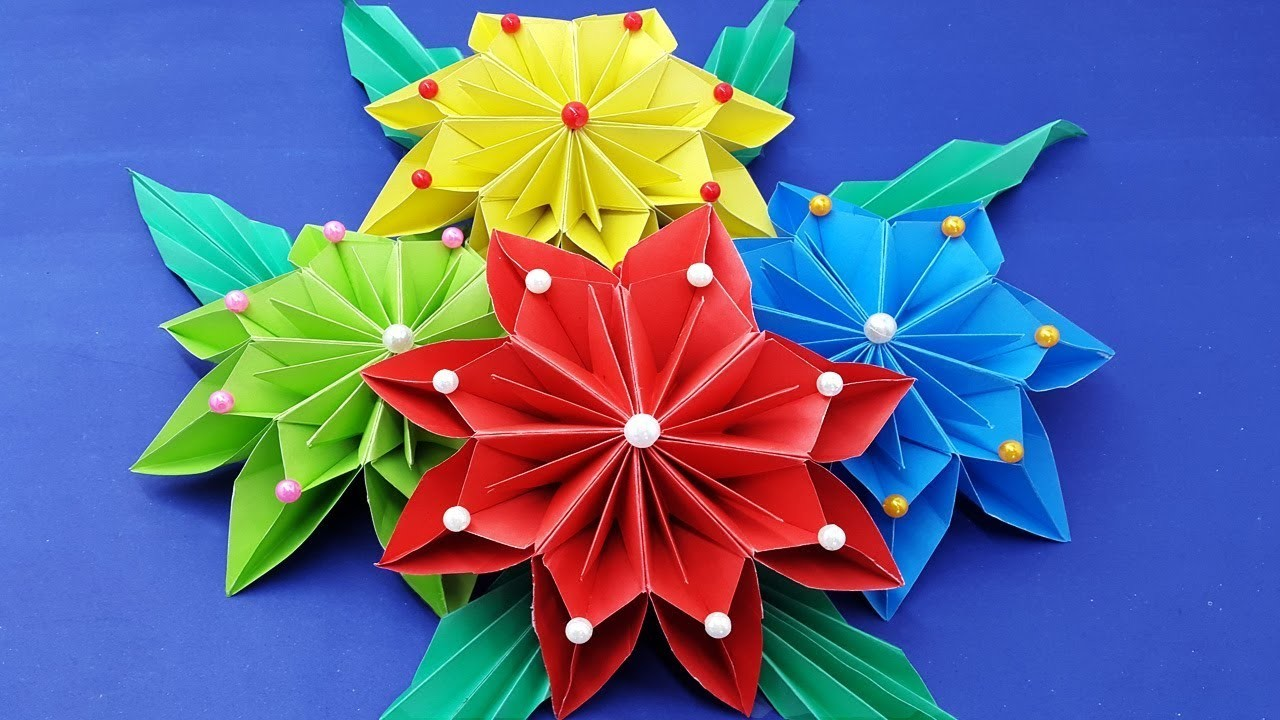 How to make paper flowers diy wall hanging with paper flower wall how to make paper flowers diy wall hanging with paper flower wall decoration ideas diy paper craft mightylinksfo