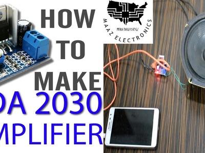 How to make TDA2030 Cheap Budgeted Mini Amplifier Urdu, Hindi & English CC DIY