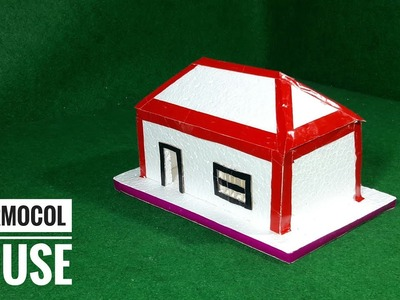 How To Make Thermocol House | Thermocol Craft For School Project | Best Out Of Waste Thermocol Craft