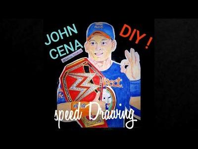 John Cena Speed Drawing   Universal Champion  Diy tutorial