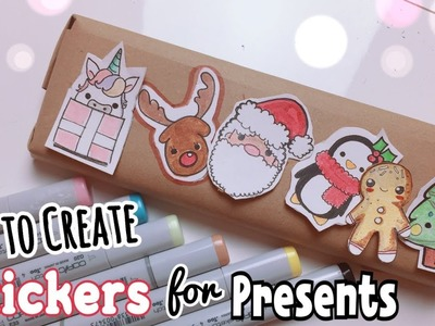 KAWAII STICKERS for PRESENTS!???? ( Cheap&Easy )