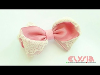 Lace Ribbon - Hair Bow | DIY by Elysia Handmade