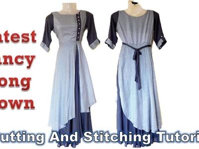 Latest Fancy Long Gown | Umbrella Cut Design | DIY Tutorial