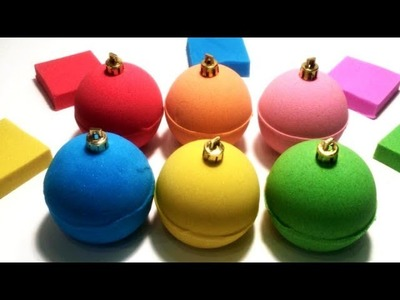 Learn Colors DIY How To Make  Colors Kinetic Sand Big Balls Fun Video For Kids
