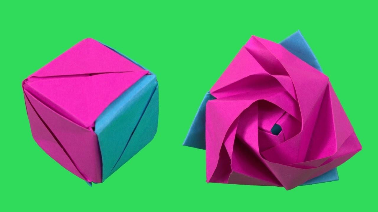 Magic Rose Cube Origami