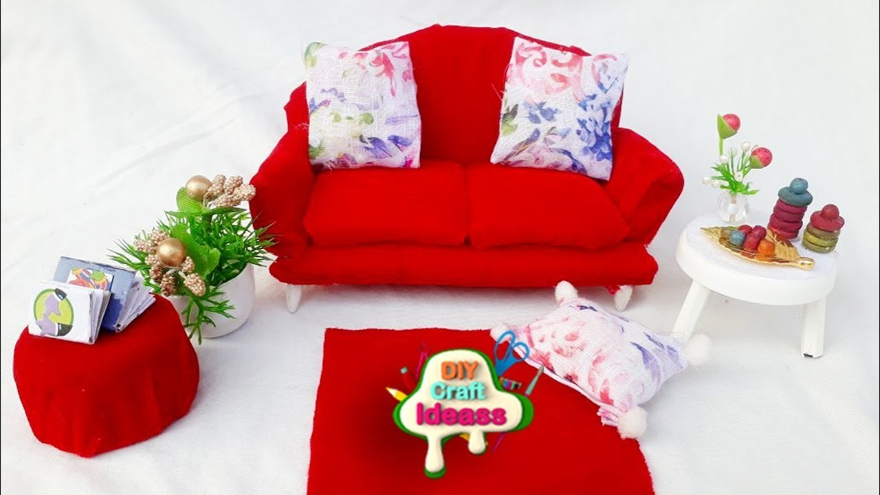 Miniature sofa # modular sofa  # diy craft ideas-best out of waste शिल्प विचार @ diy craft ideas