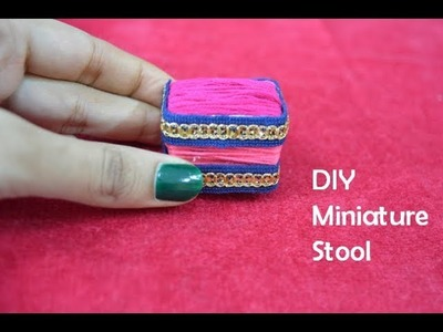 Miniature Stool | DIY Miniature Doll House Furniture | DIY Miniature Chair | Eshanya Arts