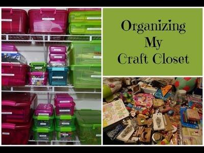 Organizing & Decluttering My Craft Closet