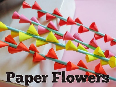 Paper Flowers | Paper Flowers Making for Decoration | Paper Crafts DIY Paper Flowers Tutorial
