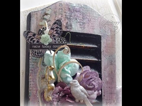 Paper to Wood Transfer Tutorial and Mixed Media diy Home Decor Craft (DT Project for Reneabouquets)