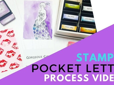 Pocket Letters: Easy Stamped Pocket Letter Process Video Part 1
