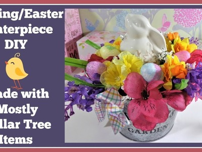 Spring. Easter Centerpiece DIY???? Mostly Dollar Tree Items
