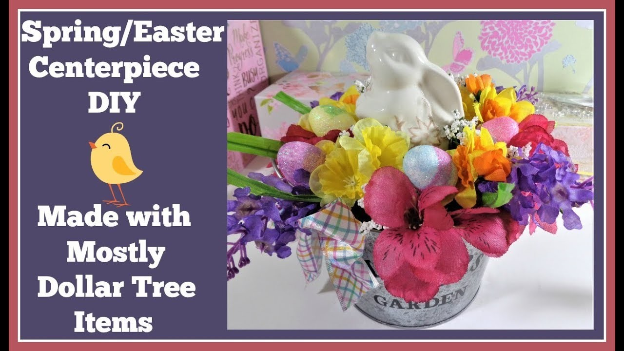 Easter Centerpiece DIY???? Mostly Dollar Tree Items