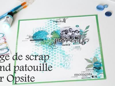 #13 How to use bubble wrap to create background. Fond de page et papier bulle