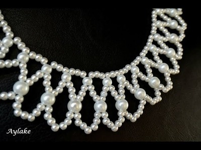 "Aylake - How to make beaded necklace ""Endless tears"""