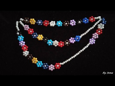 Beaded Necklace. Easy pattern for beginners. ????