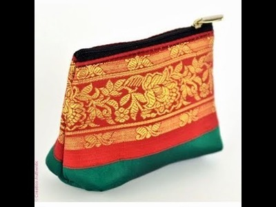 Coin Purse Made From Old Saree (DIY)