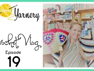 Crochet Vlog Episode 19 - Granny Square Cardigan, Bunting Basket, and Kenya Q & A