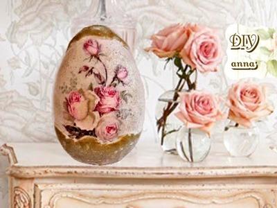 Decoupage vintage easter eggs DIY