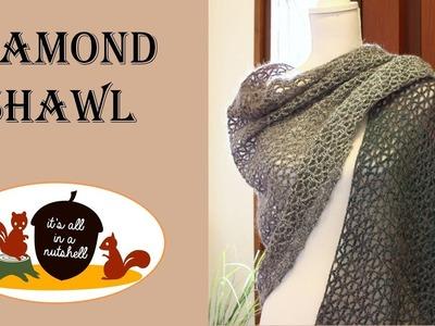 Diamond Shawl - Free Crochet Pattern