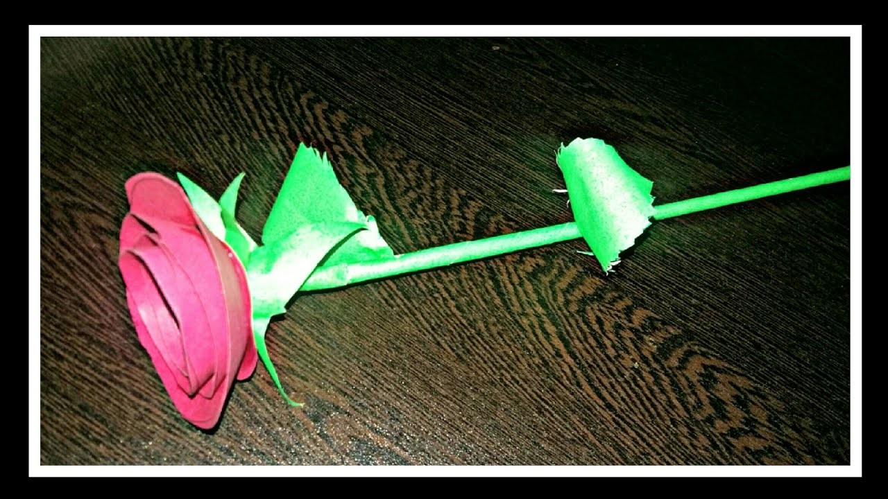 DIY CRAFT -Paper rose !! How to make perfect rose with paper|gift for him.her