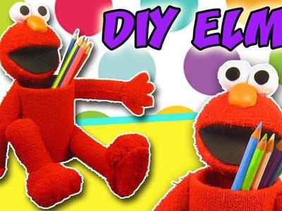 DIY ELMO Pencil Holder - Back to School - Idea School Supplies | aPasos Crafts DIY