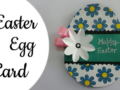 DIY Handmade Easter Egg Card.Easter Egg Shaped Card Making.How To Make Easter Egg Card For Kids