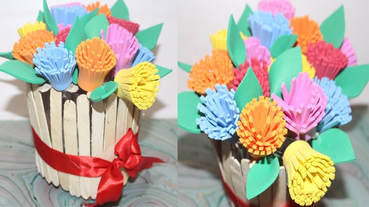 Diy how to make best out of waste flower vase awesome for Amazing ideas for best out of waste