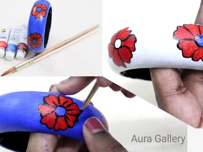 DIY | How to paint wooden Bangle base. Wooden jewellery