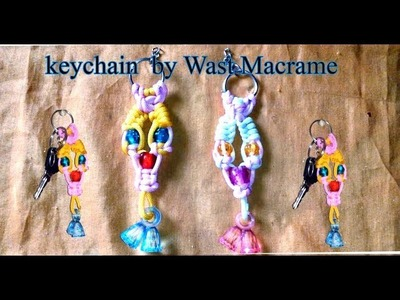 Diy macrame keychain | easy macrame keychain  design #2  | macrame art | Infoqueen