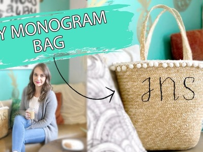 DIY Monogram Beach Bag | Straw Bag DIY Tutorial