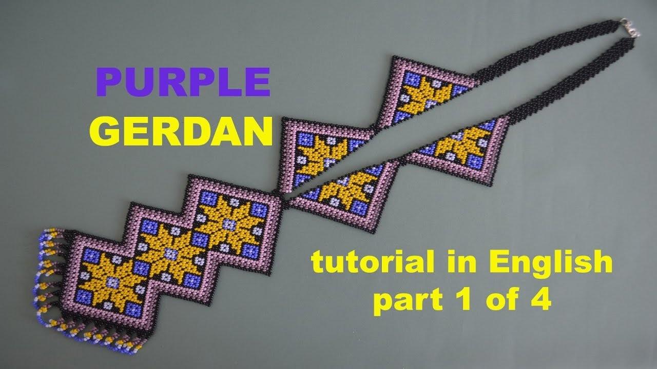 DIY Purple Gerdan part 1.4. Beading and Miroslava TV